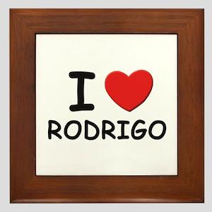 I love Rodrigo Framed Tile