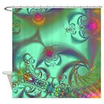 Jeweled Staircase, Kaleidoscope Shower Curtain