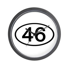 Number 46 Oval Wall Clock