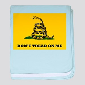 Dont Tread on Me Flag baby blanket