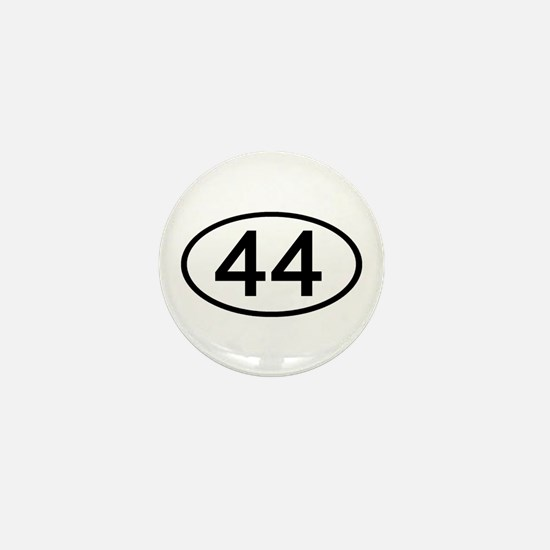 Number 44 Oval Mini Button