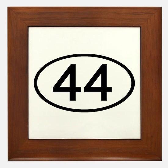 Number 44 Oval Framed Tile