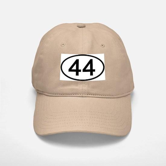 Number 44 Oval Baseball Baseball Cap