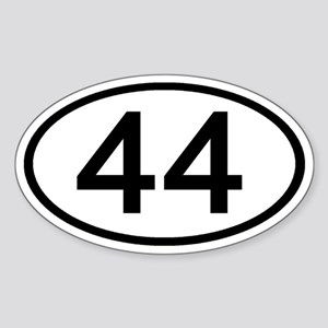 Number 44 Oval Oval Sticker