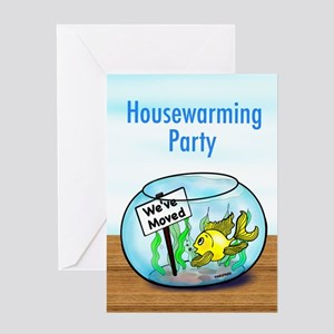 We Moved housewarming party Greeting Card
