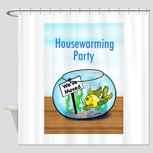 We Moved housewarming party Shower Curtain