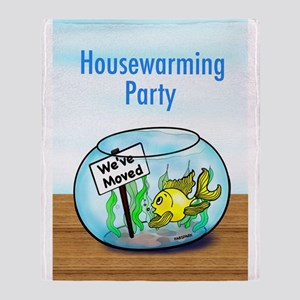 We Moved housewarming party Throw Blanket