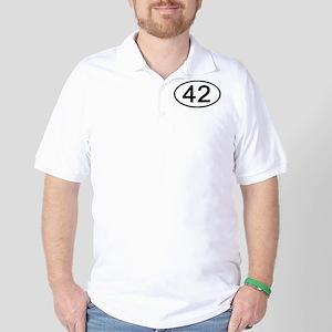 Number 42 Oval Golf Shirt