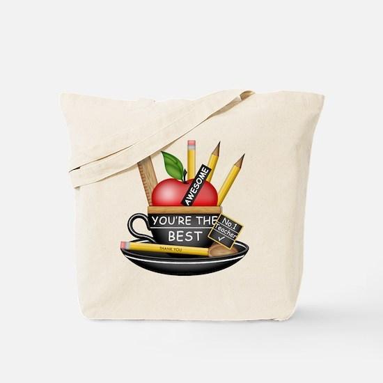 Teachers Apple Teacup Tote Bag