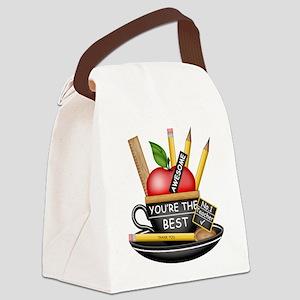 Teachers Apple Teacup Canvas Lunch Bag