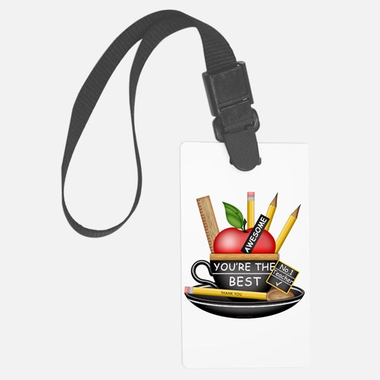 Teachers Apple Teacup Luggage Tag