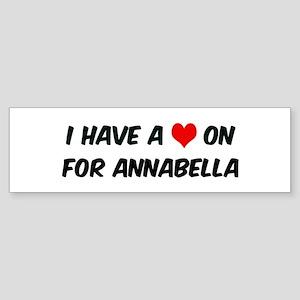 Heart on for Annabella Bumper Sticker