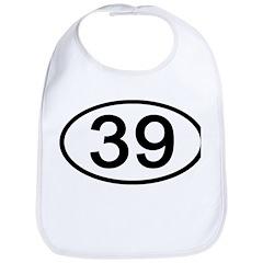 Number 39 Oval Bib