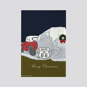 Route 66 Christmas Rectangle Magnet