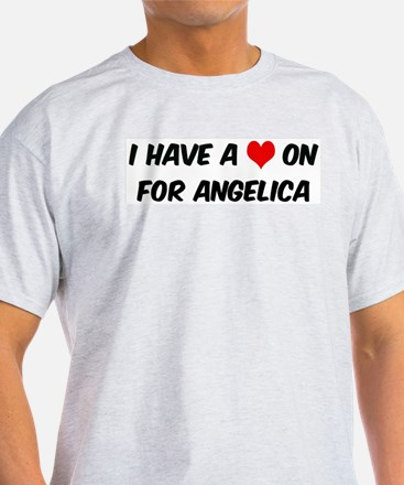 Heart on for Angelica Ash Grey T-Shirt