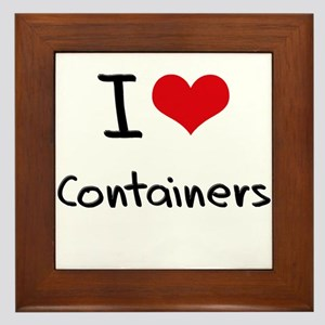 I Love Containers Framed Tile