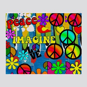 Peace ART HORIZONTAL Throw Blanket