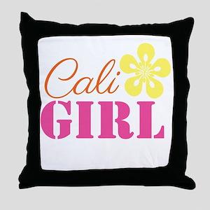 Cali Girl Throw Pillow