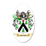 Christal 35x21 Oval Wall Decal