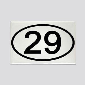 Number 29 Oval Rectangle Magnet