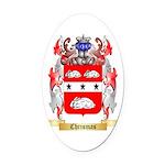 Chrismas Oval Car Magnet