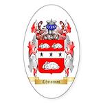 Chrismas Sticker (Oval 50 pk)