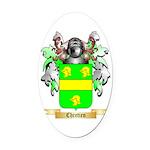 Chretien (2) Oval Car Magnet