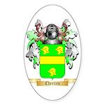 Chretien (2) Sticker (Oval 50 pk)