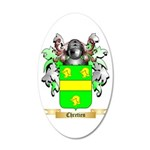 Chretien (2) 20x12 Oval Wall Decal
