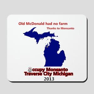 Occupy Monsanto Traverse City Michigan Mousepad