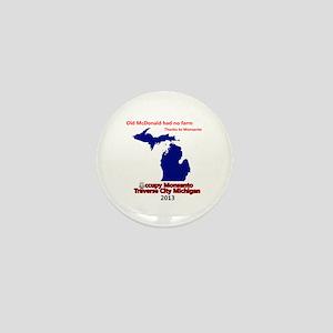 Occupy Monsanto Traverse City Michigan Mini Button