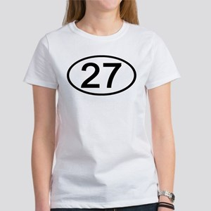 Number 27 Oval Women's T-Shirt
