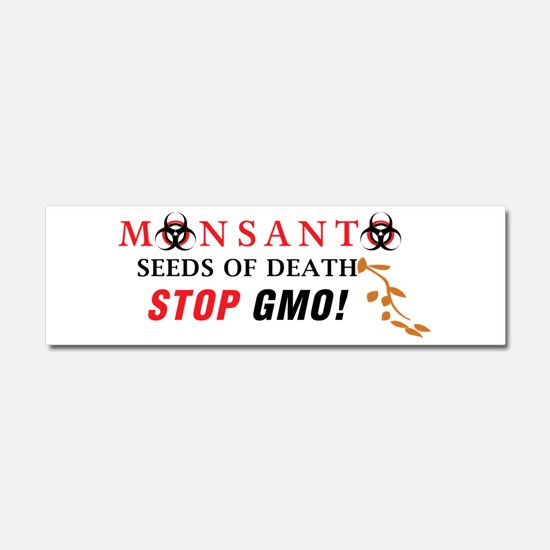 SEEDS OF DEATH STOP GMO Car Magnet 10 x 3