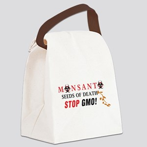 SEEDS OF DEATH STOP GMO Canvas Lunch Bag