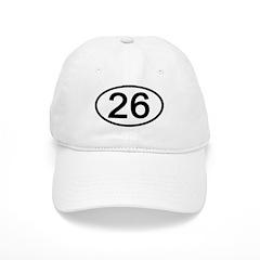 Number 26 Oval Baseball Cap
