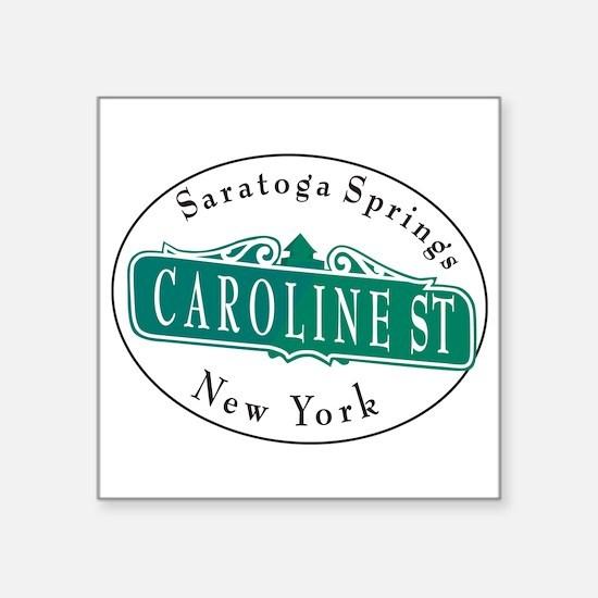 "Caroline Street Square Sticker 3"" x 3"""