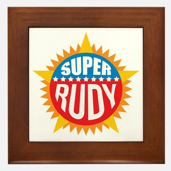 Super Rudy Framed Tile