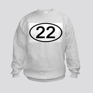 Number 22 Oval Kids Sweatshirt