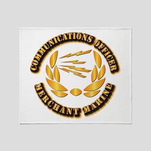 Communications Officer - Merchant Marine Throw Bla