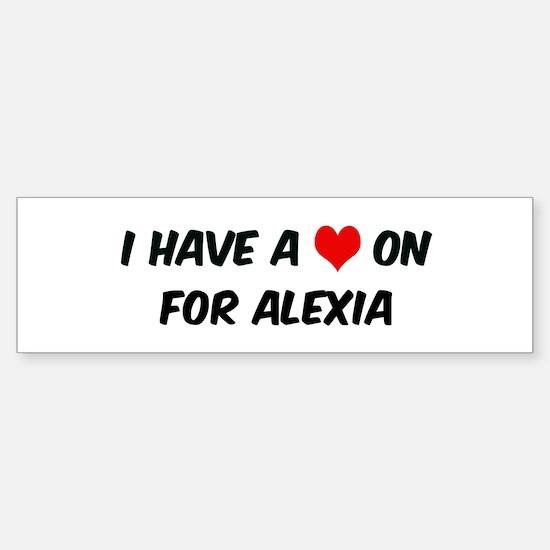 Heart on for Alexia Bumper Car Car Sticker