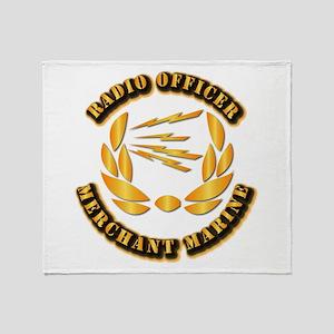 Radio Officer - Merchant Marine Throw Blanket
