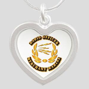 Radio Officer - Merchant Marine Silver Heart Neckl