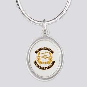 Radio Officer - Merchant Marine Silver Oval Neckla