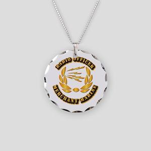 Radio Officer - Merchant Marine Necklace Circle Ch