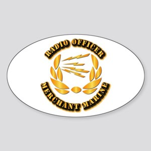 Radio Officer - Merchant Marine Sticker (Oval)