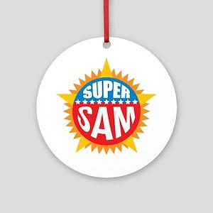 Super Sam Ornament (Round)