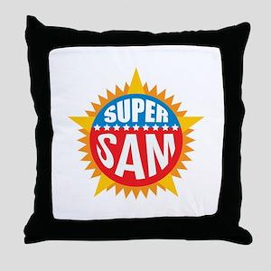 Super Sam Throw Pillow
