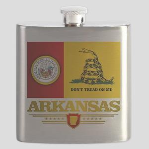 Arkansas Gadsden Flag Flask