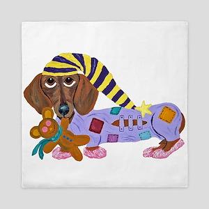 Dachshund Bedtime Queen Duvet
