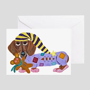Dachshund Bedtime Greeting Card